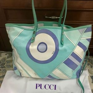 Handbags - Emilio Pucci Coated Canvas Tote Bag